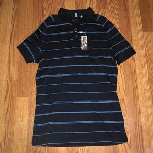 MADE by Cam Newton Casual Blue Shirt MEDIUM